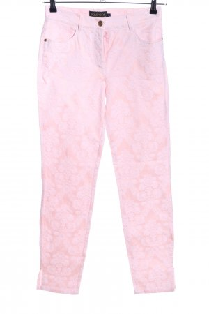 Pompöös by Harald Glöckler High-Waist Hose pink abstraktes Muster Casual-Look