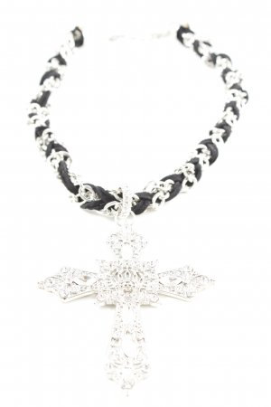 Statement ketting zwart-zilver elegant