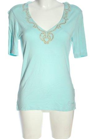 Pompöös T-Shirt turquoise casual look