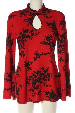 Pompöös Longsleeve red-black allover print casual look