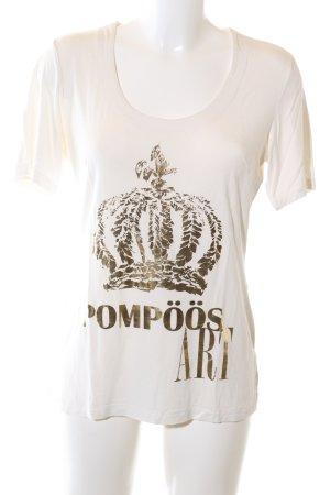 Pompöös Print-Shirt weiß Motivdruck Casual-Look