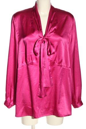 Pompöös Blouse avec noeuds rose style d'affaires