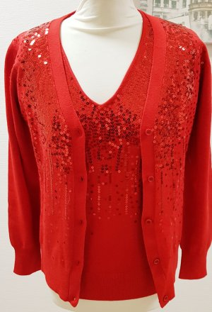 Pompöös by Harald Glöckler Sweater Twin Set red