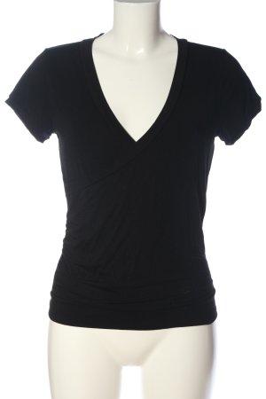 Pompöös V-Ausschnitt-Shirt schwarz Casual-Look
