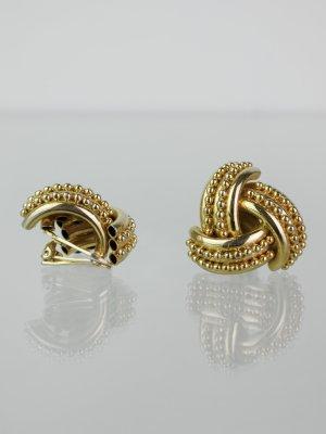 Pompöse Vintage Ohrclips, goldfarben