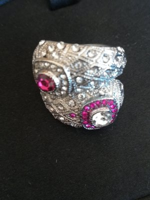 Statement Ring silver-colored-violet