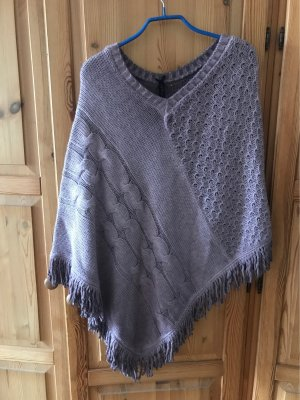 Key Largo Knitted Poncho rose-gold-coloured