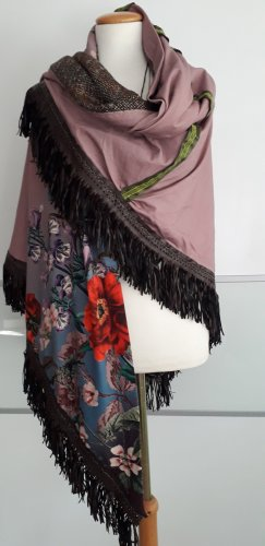 Handmade Bufanda de flecos multicolor