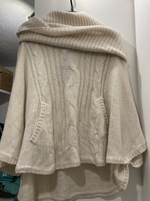 H&M Divided Knitted Poncho oatmeal