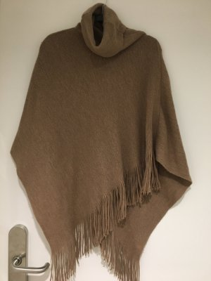 Pieces Poncho beige-camel