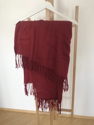 Poncho dark red