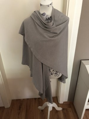 Benetton Knitted Poncho light grey