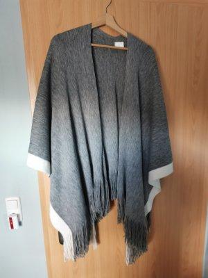 Gina Benotti Poncho en tricot gris acrylique
