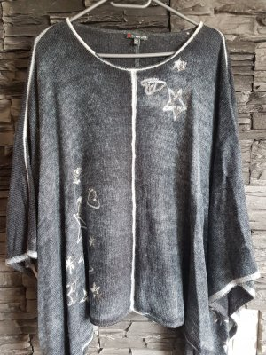 Street One Knitted Poncho grey