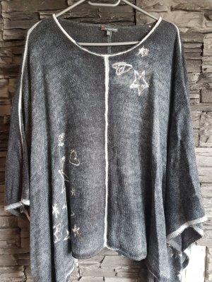 Street One Poncho en tricot gris