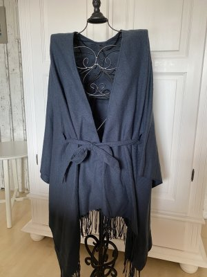 Only Knitted Poncho dark blue
