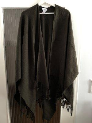 Only Bufanda de lana marrón oscuro