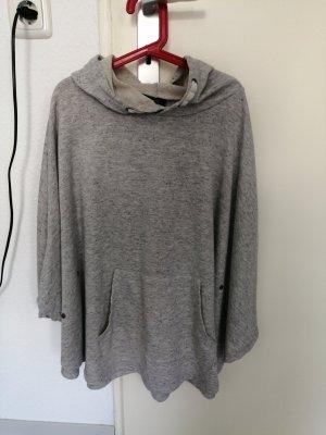 Poncho light grey-grey
