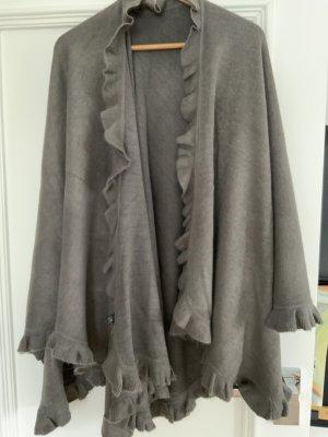 Bolero lavorato a maglia marrone-grigio