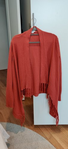 Cotton On Knitted Poncho cognac-coloured