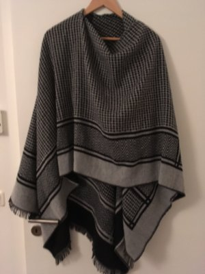 Only Poncho en tricot multicolore