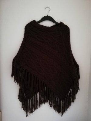 Poncho marrón oscuro