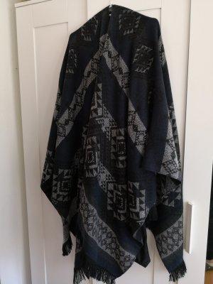 Vero Moda Poncho zwart-donkerblauw