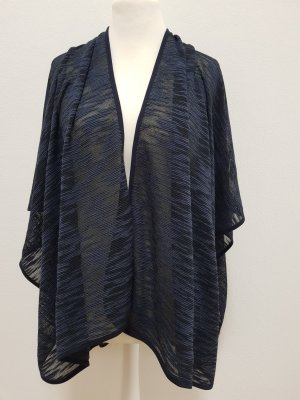 Opus Poncho en tricot bleu foncé