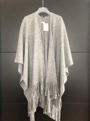 Canda Knitted Poncho grey