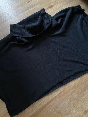 Poncho aus Strick schwarz