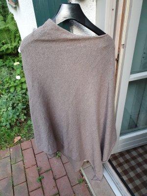 Poncho grijs-bruin-lichtbruin