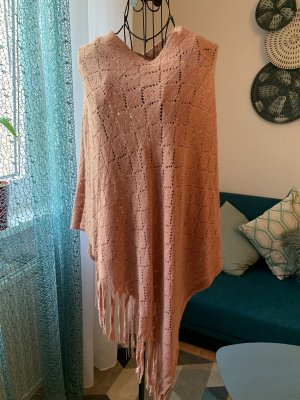Knitted Poncho dusky pink