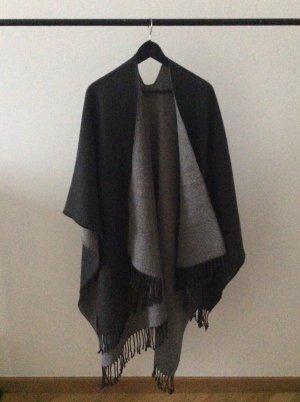 H&M Peleryna Wielokolorowy Tkanina z mieszanych włókien