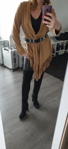 Zara Woman Poncho camel-beige