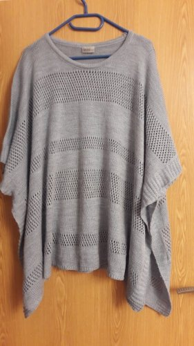 Janina Knitted Poncho grey polyacrylic