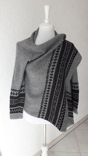 Hailys Poncho noir-gris clair