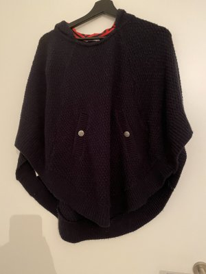 Promod Poncho dark blue-blue cotton