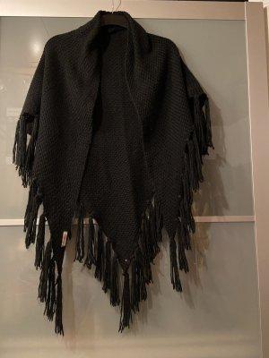 Codello Poncho en tricot noir