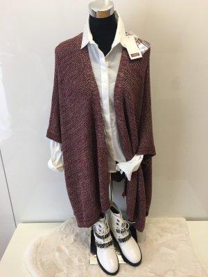 Comptoir des Cotonniers Knitted Poncho bordeaux-dusky pink