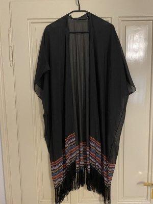 Vero Moda Veste à franges noir