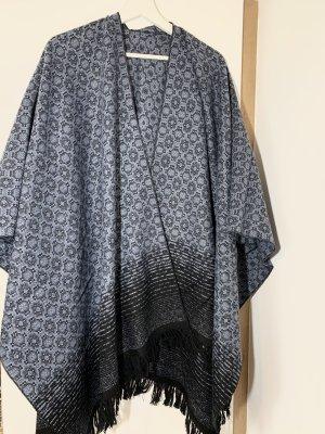 Poncho noir-bleu foncé
