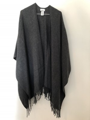 Only Knitted Poncho dark grey-anthracite