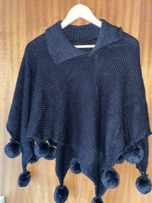 2hearts Knitted Poncho black