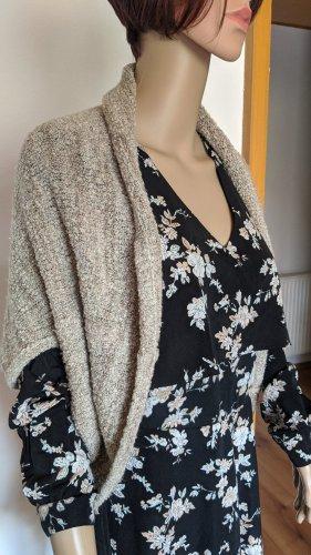Comma Poncho en tricot crème