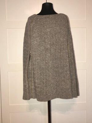 Escada Poncho en tricot bronze-gris brun