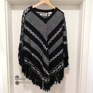 Only Poncho wit-zwart
