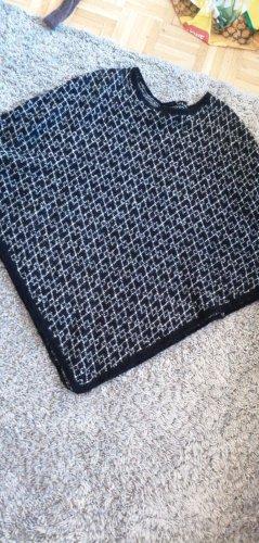 Poncho nero Cotone