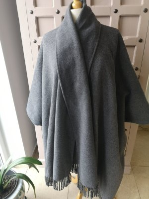 Poncho gris claro-gris antracita
