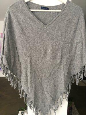 Darling Harbour Poncho en tricot argenté