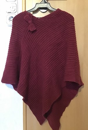 Knitted Poncho purple